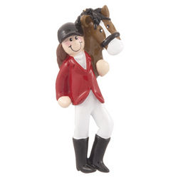 Equestrian with Horse Christmas Ornament