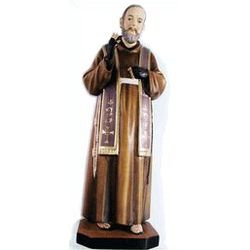 "St Padre Pio Wood 8"" Statue"