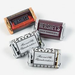 Personalized Black and White Mini Hershey's® Bar Favors