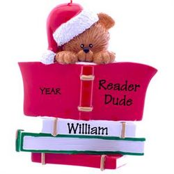 Personalized Reader Bear Ornament