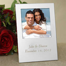 Sweethearts Engraved Silver Personalized Picture Frame