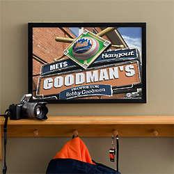 Personalized New York Mets Bar Medium Art Print