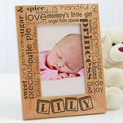 Personalized Pride and Joy Vertical Picture Frame