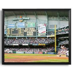 Personalized MLB Scoreboard Houston Astros 16x20 Framed Canvas