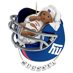 New York Giants African American First Christmas Ornament