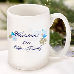 Personalized Dazzling Snowflakes Mug