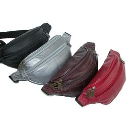 3 Pocket Leather Waist Pack