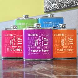 Custom Bridal Party Color Flask