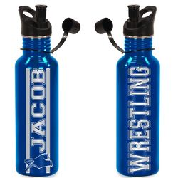 Personalized Wrestling Water Bottle