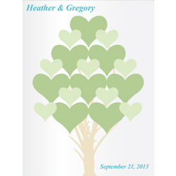 Flourishing Hearts Personalized Couple's Canvas