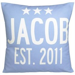 Personalized Baby Announcement Stars Pillow
