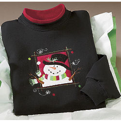 Frosty the Snowman Portrait Sweatshirt