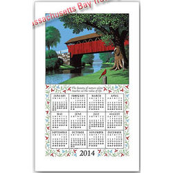 2014 Country Bridge Calendar Towel