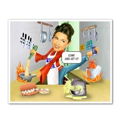 Super Chef Custom Photo Caricature Print