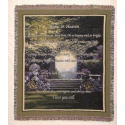 Home In Heaven Sympathy Blanket