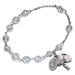 Rosary Initial Bracelet