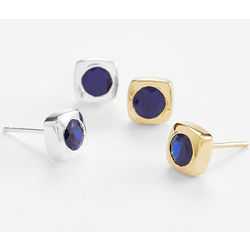 5th Anniversary Blue Sapphire Earrings