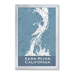 Personalized Framed White Water Kayak Sign