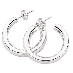 Chunky Hoop Silver Earrings