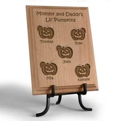Personalized Lil' Pumpkins Wooden Plaque