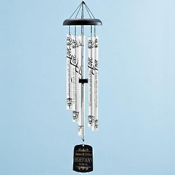 Personalized All Because Two People Windchime