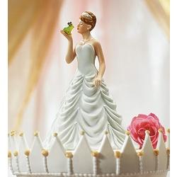 Princess Bride Kissing Frog Prince Wedding Cake Topper