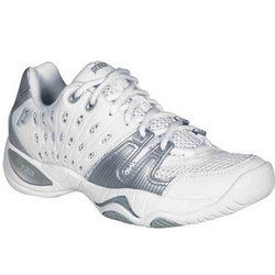 T22 Womens Tennis Shoes in White and Silver