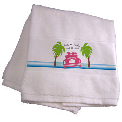 Personalized Honeymoon Bath Towel