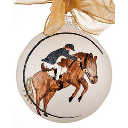 Male Equestrian Christmas Ornament
