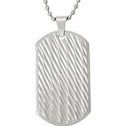 Gento Waves Stainless Steel Dog Tag