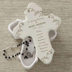 In Loving Memory Personalized Cross Box