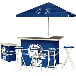 Indianapolis Colts Deluxe Portable Tailgate Bar Set