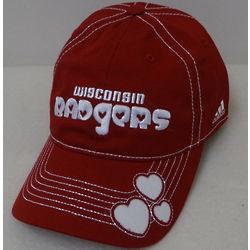 Girl's Wisconsin Badgers Hearts Baseball Cap