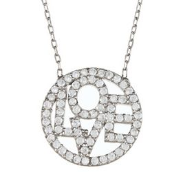 Circle of Love Cubic Zirconia & Sterling Silver Necklace