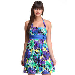 Floral Halter Top Dress
