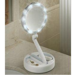 Brighter Foldaway Vanity Mirror
