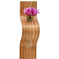 Glass and Wood Single Bud Vase