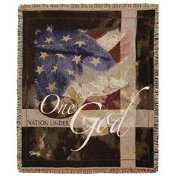 One Nation Under God Patriotic Blanket
