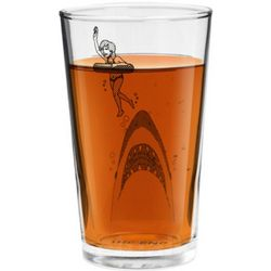 The End Shark Drinking Glass