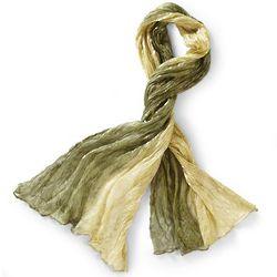 Verdure Ombre Silk Scarf