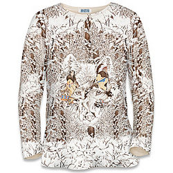 The Eyes of The Wilderness Women's Artistic Print Shirt