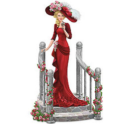 Refreshing Repose Victorian-Style Coca-Cola Lady Figurine