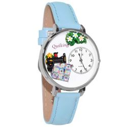 Sewing Whimsical Watch in Large Silver Case