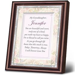 Granddaughter, I Love You Personalized Framed Sentiment