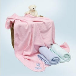 Personalized Cotton Ringer Baby Blankie