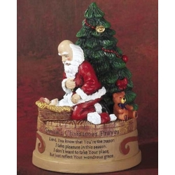 Santa's Christmas Prayer Figurine