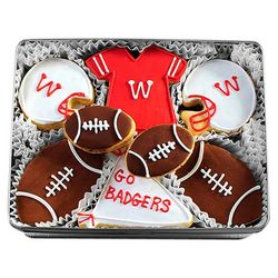Wisconsin Badgers Decorated Sugar Cookie Gift Tin