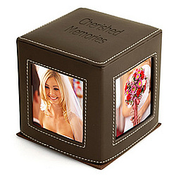 Family Leather Photo Cube