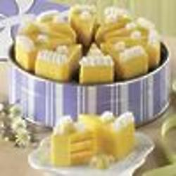 10 Little Lemon Pie Cake Wedges Gift Tin