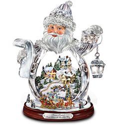 Thomas Kinkade Crystal 3D Santa Claus Figurine